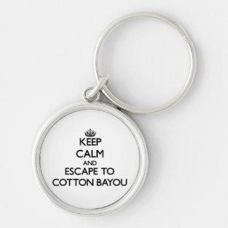 Keep calm and escape to Cotton Bayou Alabama Key Chain