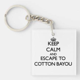 Keep calm and escape to Cotton Bayou Alabama Acrylic Keychains