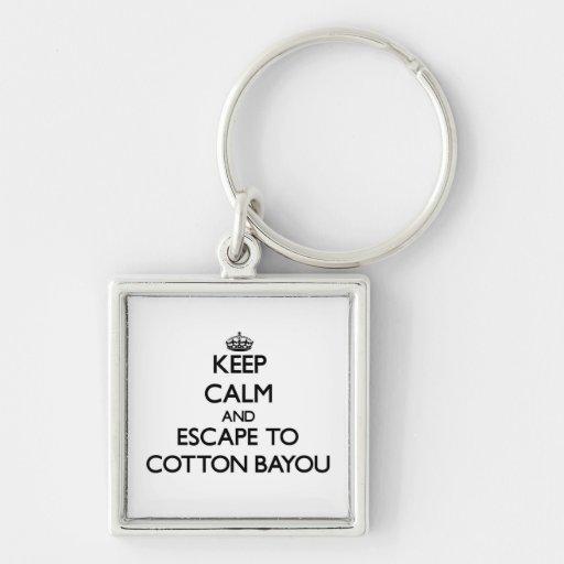Keep calm and escape to Cotton Bayou Alabama Keychain