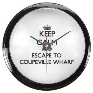 Keep calm and escape to Coupeville Wharf Washingto Aquavista Clocks