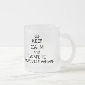 Keep calm and escape to Coupeville Wharf Washingto 10 Oz Frosted Glass Coffee Mug