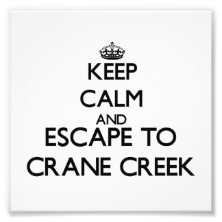 Keep calm and escape to Crane Creek Ohio Art Photo