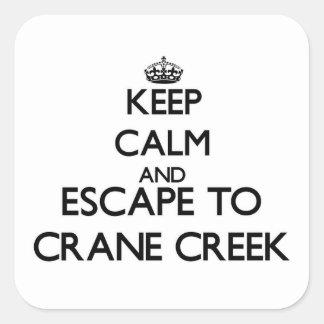 Keep calm and escape to Crane Creek Ohio Stickers