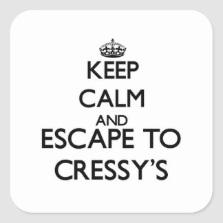 Keep calm and escape to Cressy'S Massachusetts Square Sticker