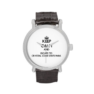 Keep calm and escape to Crystal Cove State Park Ca Wristwatch
