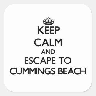 Keep calm and escape to Cummings Beach Connecticut Sticker