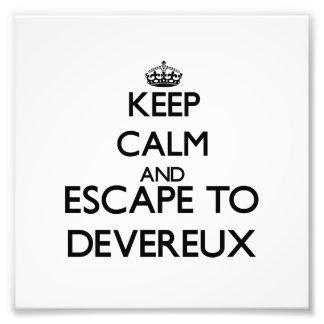 Keep calm and escape to Devereux Massachusetts Photo Print