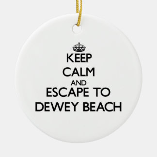 Keep calm and escape to Dewey Beach Delaware Christmas Ornament