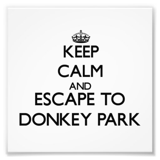 Keep calm and escape to Donkey Park Hawaii Photo