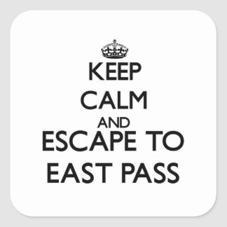 Keep calm and escape to East Pass Florida Square Stickers