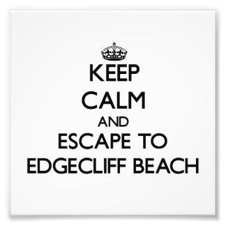 Keep calm and escape to Edgecliff Beach Ohio Photo Print