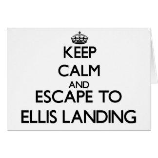Keep calm and escape to Ellis Landing Massachusett Cards