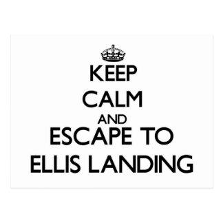 Keep calm and escape to Ellis Landing Massachusett Postcards