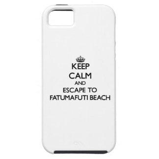 Keep calm and escape to Fatumafuti Beach Samoa iPhone 5 Cover