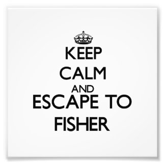 Keep calm and escape to Fisher Massachusetts Art Photo