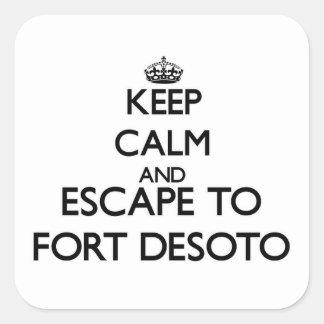 Keep calm and escape to Fort Desoto Florida Sticker
