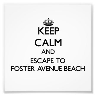 Keep calm and escape to Foster Avenue Beach Illino Art Photo