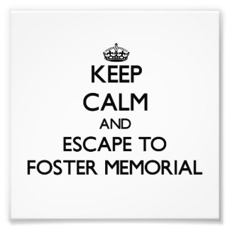Keep calm and escape to Foster Memorial New York Photographic Print