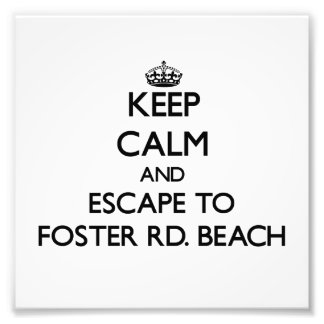 Keep calm and escape to Foster Rd Beach Michigan Art Photo