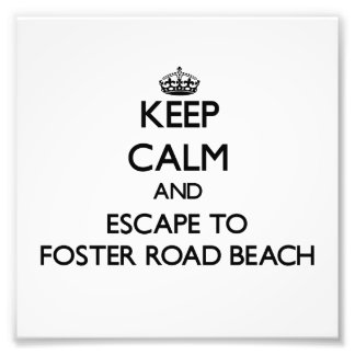 Keep calm and escape to Foster Road Beach Wisconsi Photo Art