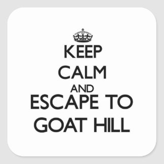 Keep calm and escape to Goat Hill Massachusetts Square Sticker