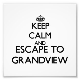 Keep calm and escape to Grandview Massachusetts Art Photo