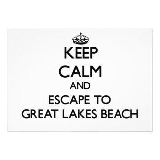 Keep calm and escape to Great Lakes Beach Michigan Invite