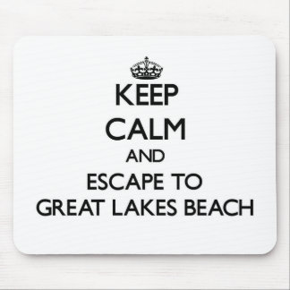 Keep calm and escape to Great Lakes Beach Michigan Mouse Pad