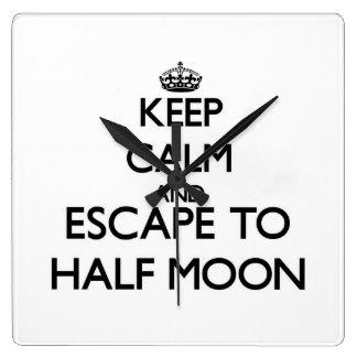 Keep calm and escape to Half Moon Massachusetts Wallclocks