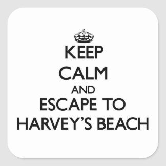 Keep calm and escape to Harvey'S Beach Connecticut Sticker