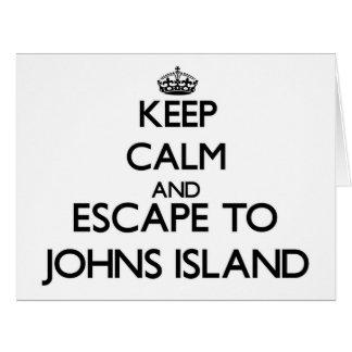 Keep calm and escape to Johns Island Washington Big Greeting Card