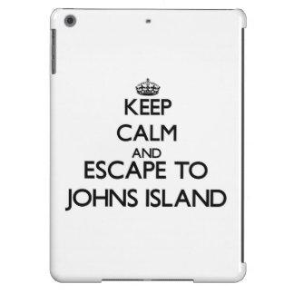 Keep calm and escape to Johns Island Washington Cover For iPad Air
