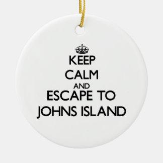 Keep calm and escape to Johns Island Washington Ornament