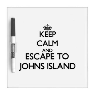 Keep calm and escape to Johns Island Washington Dry-Erase Board