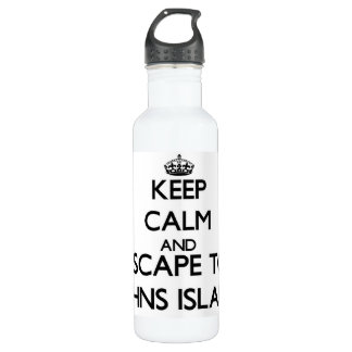 Keep calm and escape to Johns Island Washington 24oz Water Bottle