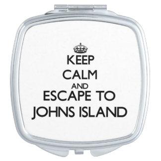 Keep calm and escape to Johns Island Washington Makeup Mirrors