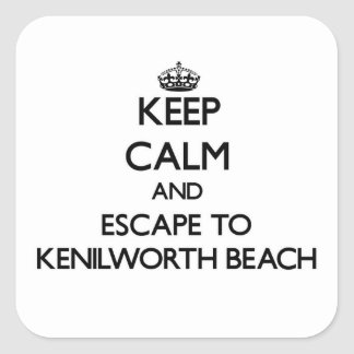 Keep calm and escape to Kenilworth Beach Illinois Sticker