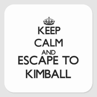 Keep calm and escape to Kimball Massachusetts Square Sticker