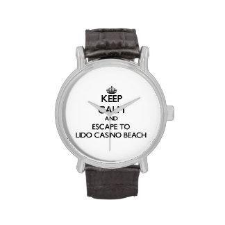 Keep calm and escape to Lido Casino Beach Florida Wristwatches
