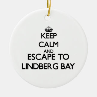 Keep calm and escape to Lindberg Bay Virgin Island Ornament