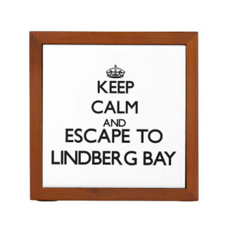 Keep calm and escape to Lindberg Bay Virgin Island Desk Organisers