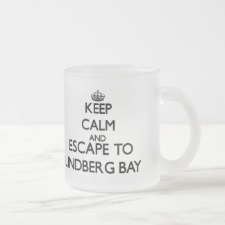 Keep calm and escape to Lindberg Bay Virgin Island Frosted Glass Mug