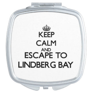 Keep calm and escape to Lindberg Bay Virgin Island Vanity Mirrors