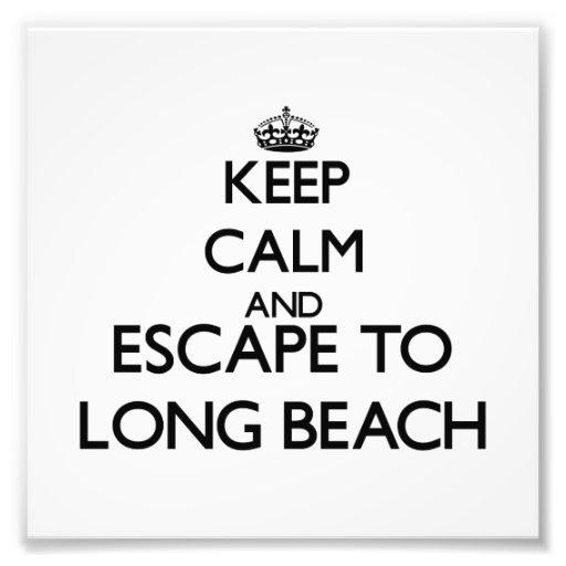 Keep calm and escape to Long Beach Connecticut Photo Print