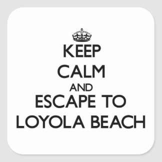 Keep calm and escape to Loyola Beach Illinois Stickers