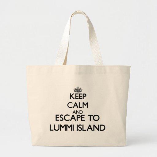 Keep calm and escape to Lummi Island Washington Bag
