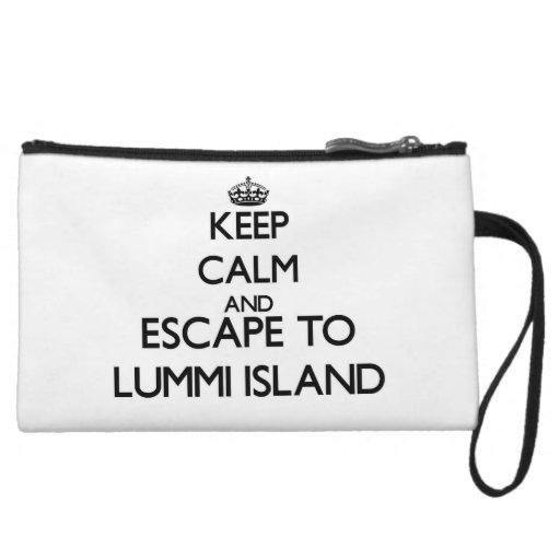 Keep calm and escape to Lummi Island Washington Wristlet Purse