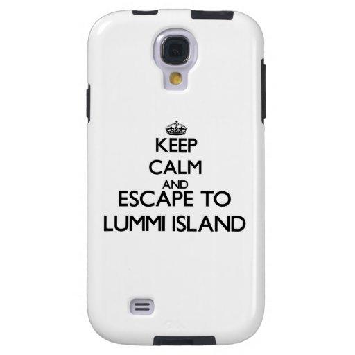 Keep calm and escape to Lummi Island Washington Galaxy S4 Case