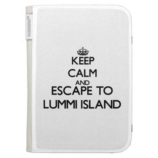 Keep calm and escape to Lummi Island Washington Kindle Folio Case