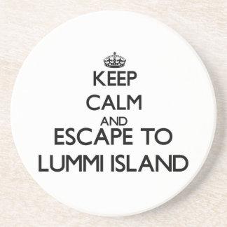 Keep calm and escape to Lummi Island Washington Coasters